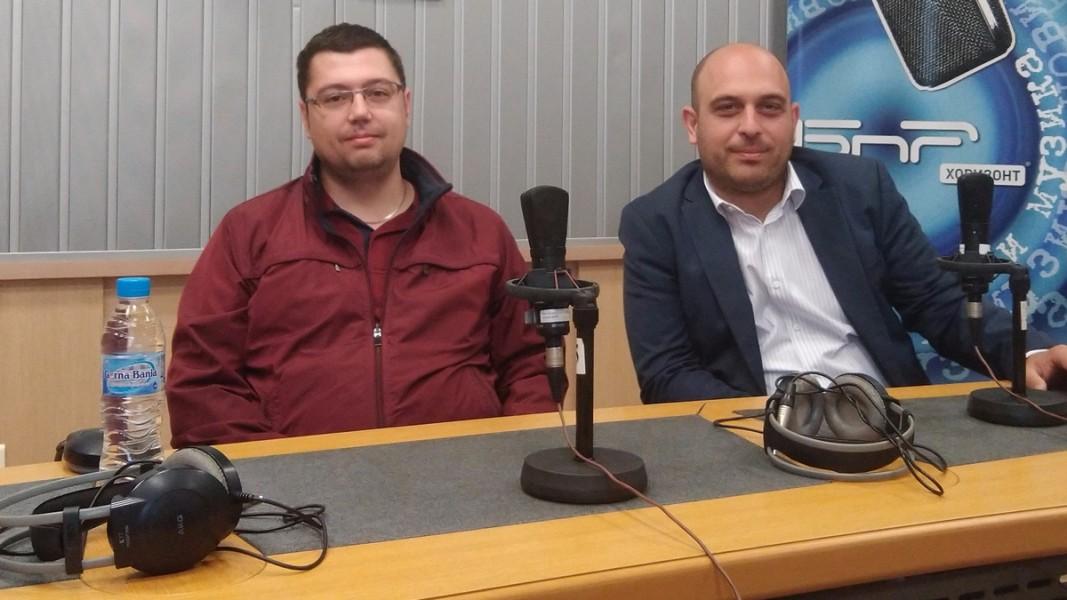 Ивайло Найденов и Атанас Георгиев  Снимка: БНР