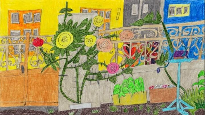 Една от картините на художника аутист