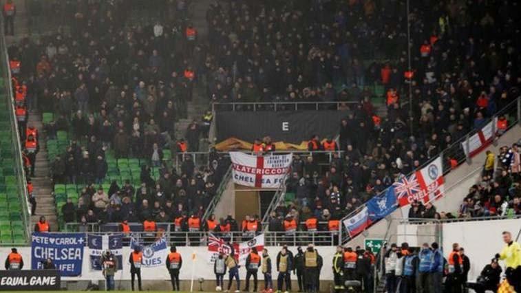Снимка: Челси осъди антисемитските песни на своите фенове в Будапеща