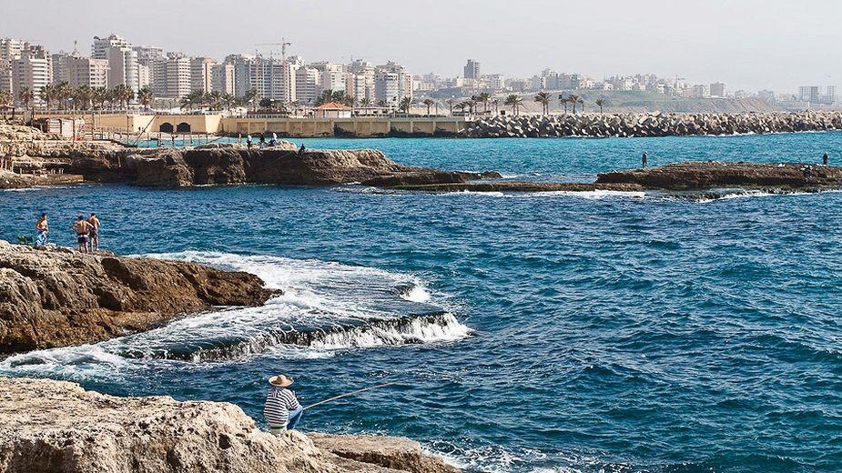 Ливанското крайбрежие край Рауш. Снимка: Анелия Талиб