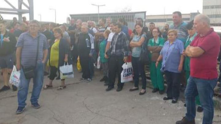 Протестиращите работници на