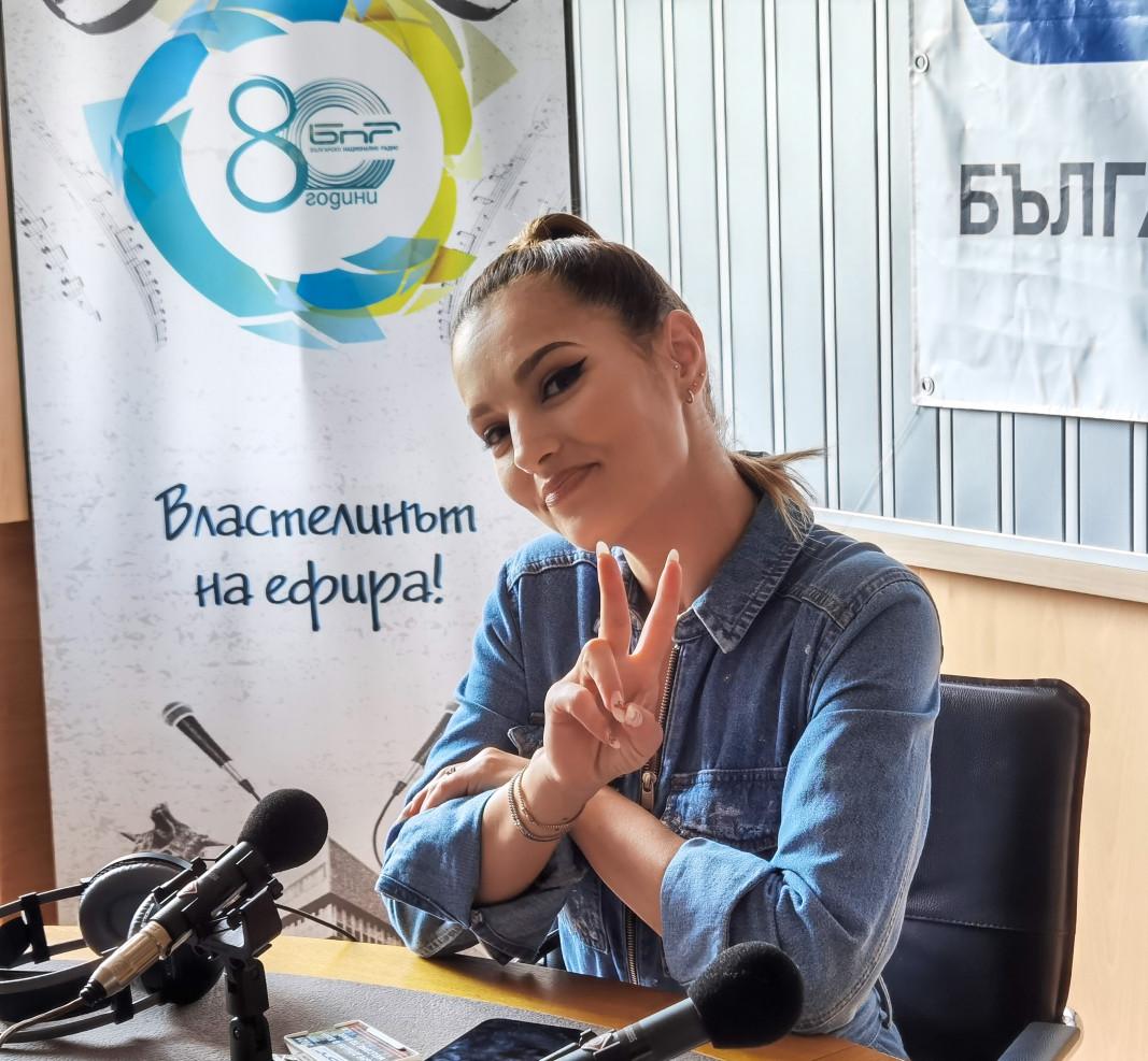 """Minelli в студиото на """"Хоризонт""""; снимка: Лозина Владимирова"""