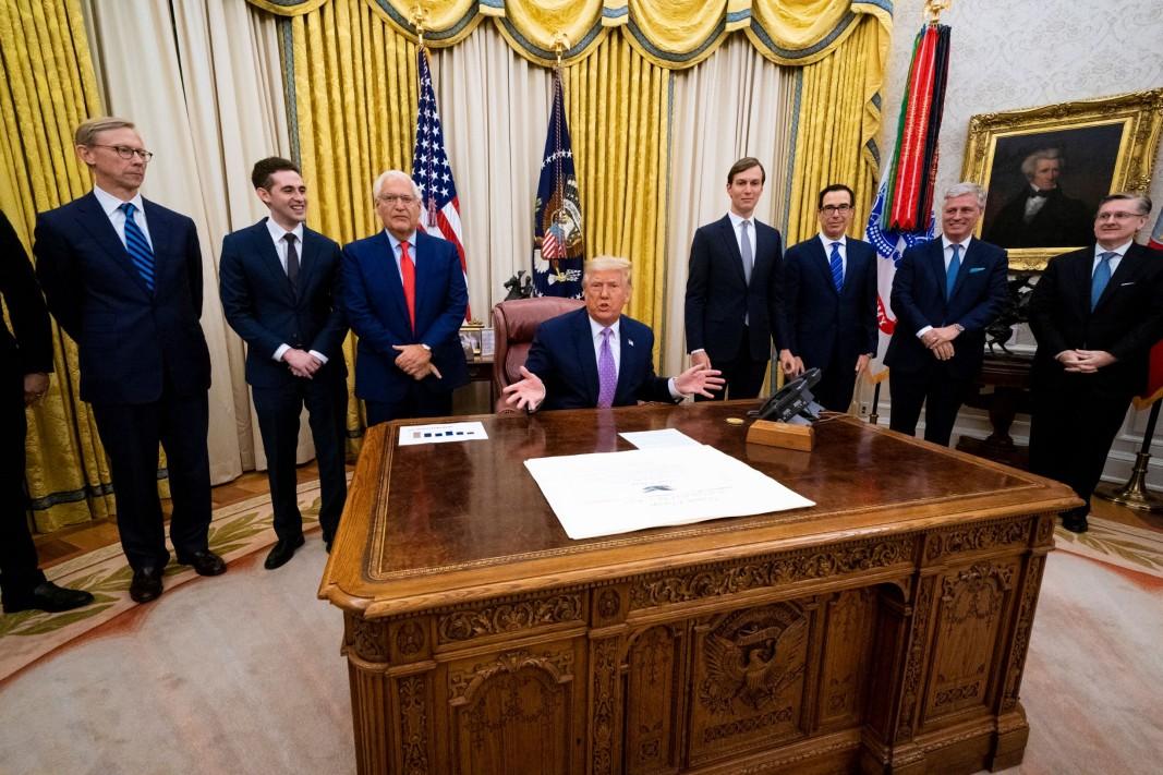 Президентът на САЩ Доналд Тръмп обявява мирното споразумение между Израел и ОАЕ - 13 август 2020