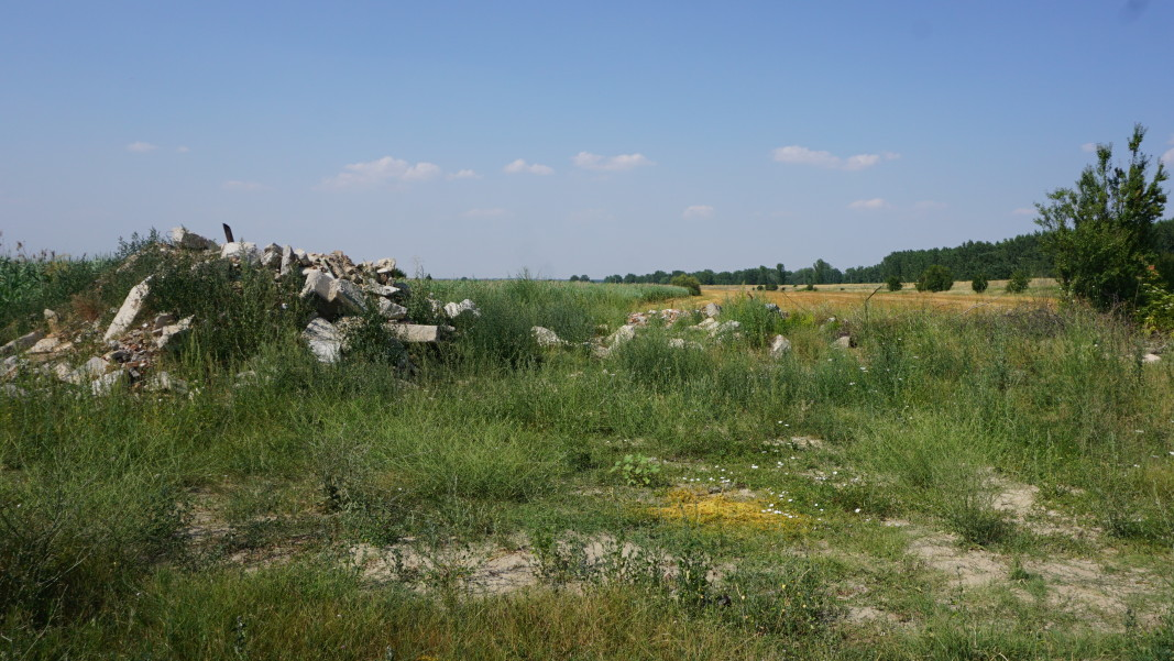 Мястото, на което се е намирала минералната баня в Сланотрън