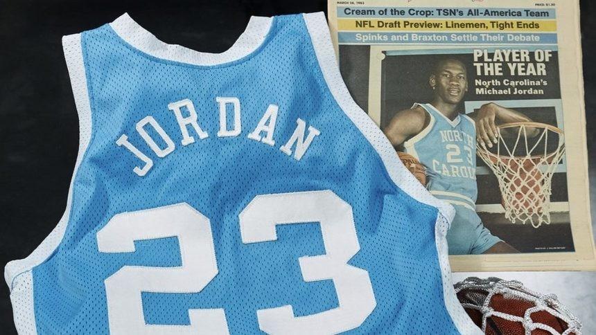 Потникът на Джордан на аукциона.