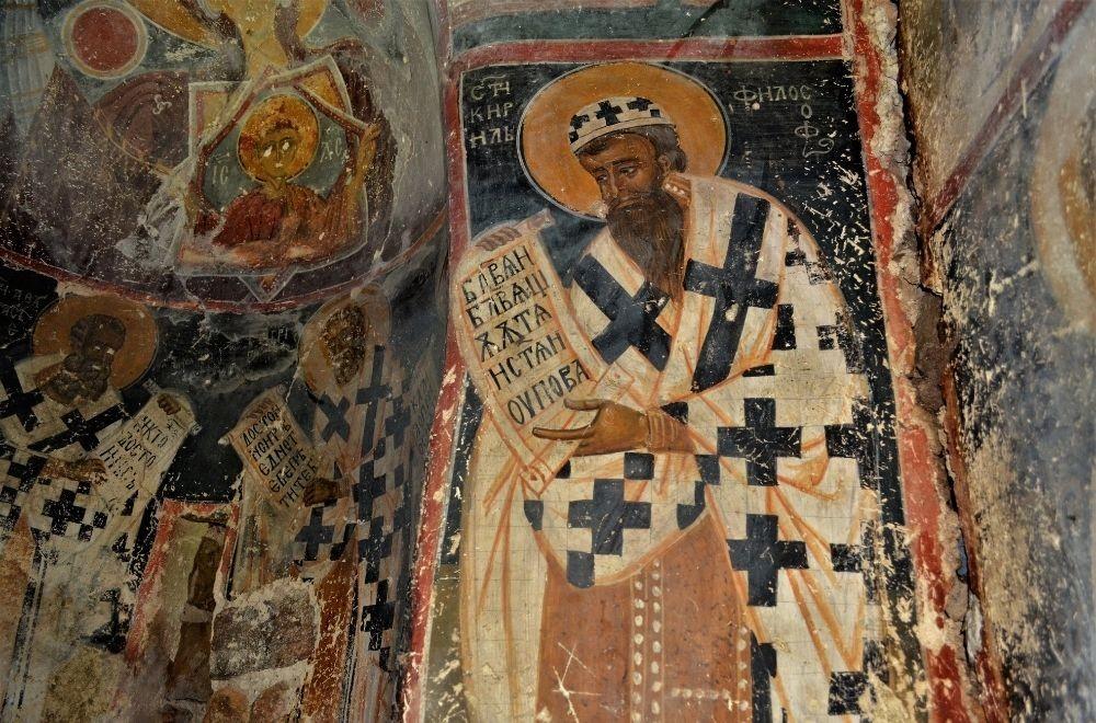 Berende köyündeki kilisede bir fresk, 13. asır.