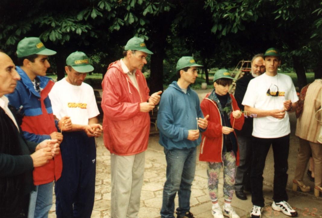 Изпращане на експедицията до Транго 1998 г.
