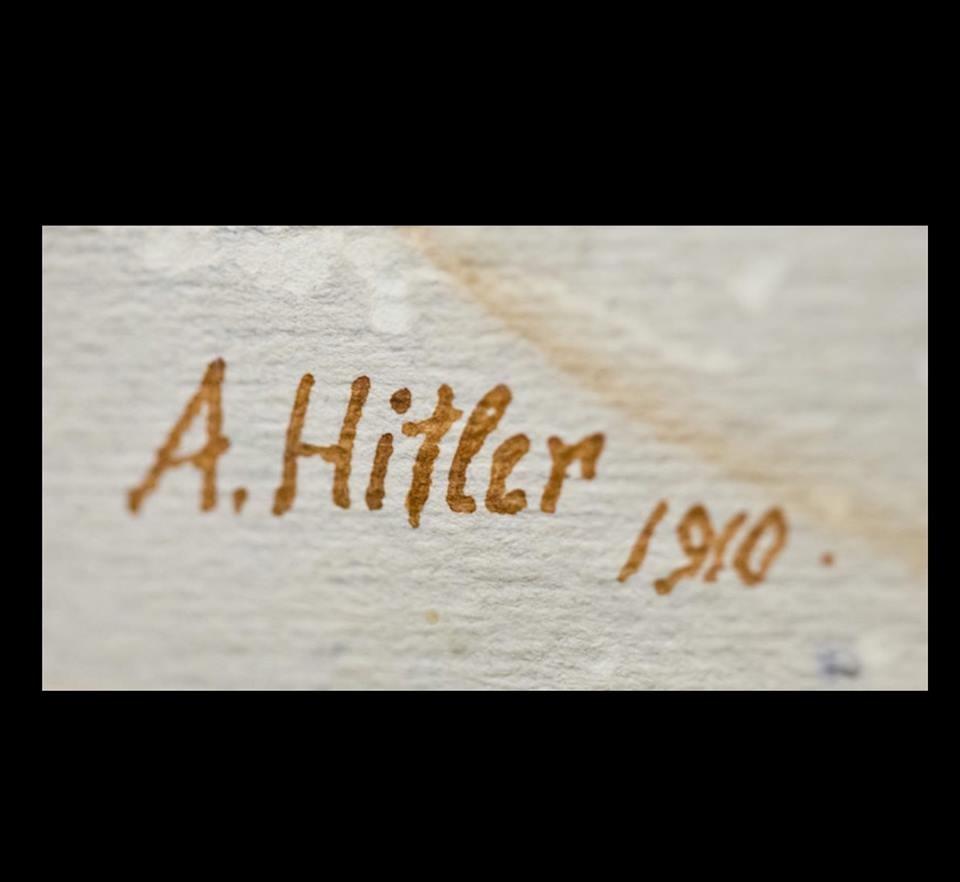 Подписът на А.Хитлер