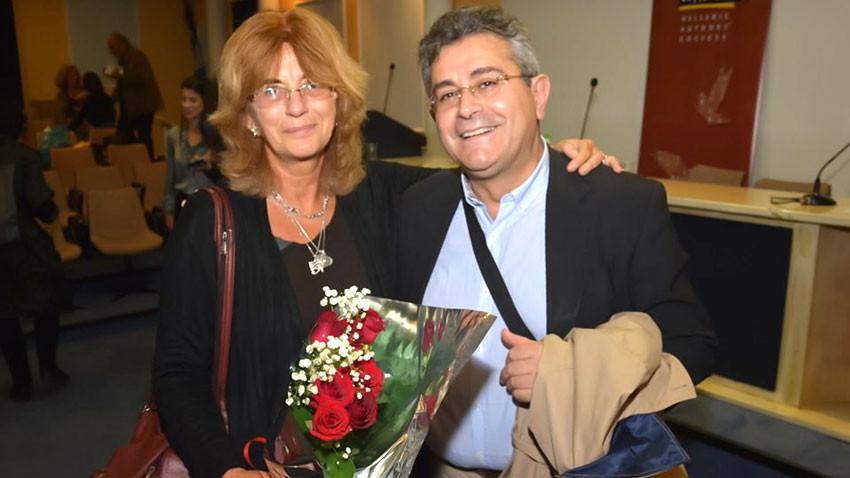 Η Ζντράφκα Μιχάιλοβα με τον Νικόλαο Βλαχάκη
