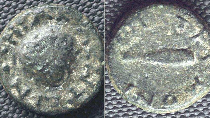 Монетите от Хераклея Синтика. Снимка: БГНЕС