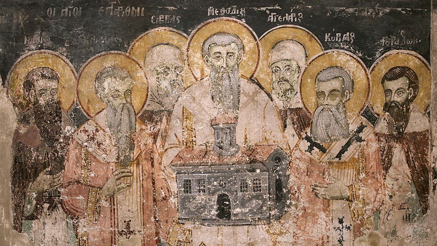 Fresco from St. Naum Monastery in Ohrid