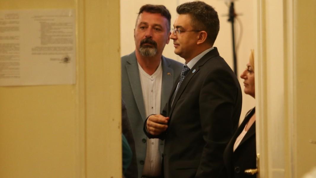Филип Станев и кандидатът на ИТН за премиер Пламен Николов Снимка: БГНЕС