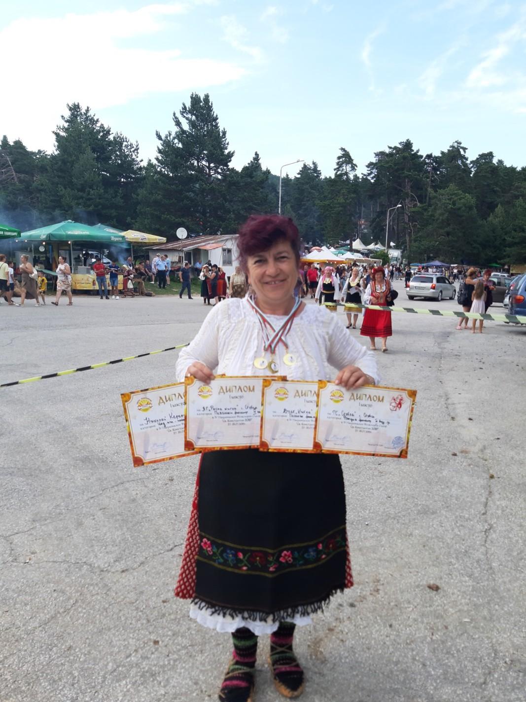 кметицата Емилия Йорданова с награди от фолклорен фестивал 2019