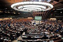 Парламентарната зала на ПАСЕ