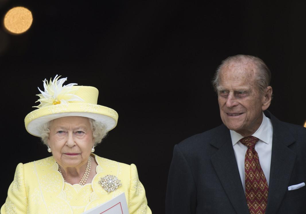 Британската кралица Елизабет II със съпруга си принц Филип