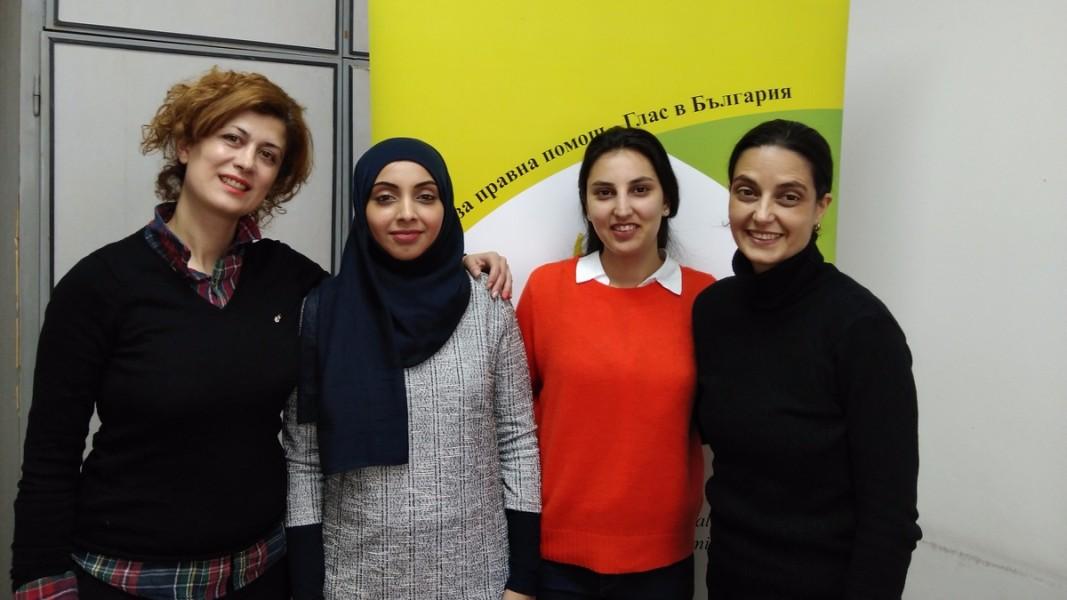 От ляво надясно: Фаегех Ешкевари, Сара Алкаф, Силсила Махбуб и Диана Радославова  Снимка от личен архив