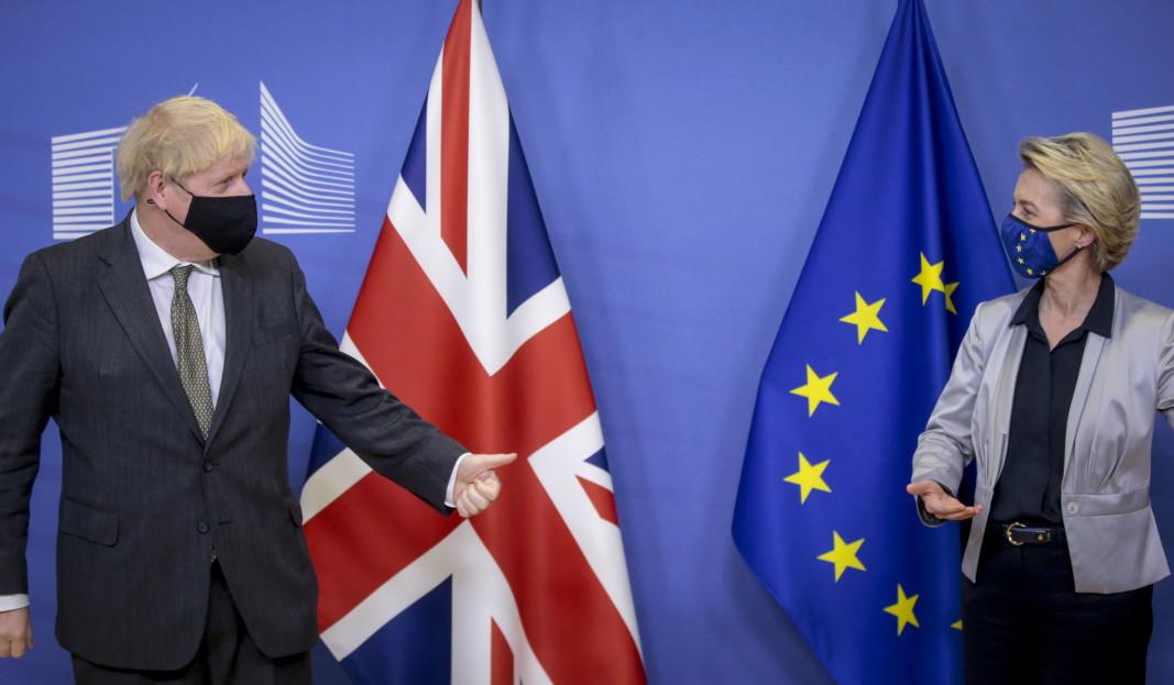 Борис Джонсън и Урсула фон дер Лайен в Брюксел - 9 декември 2020 г.