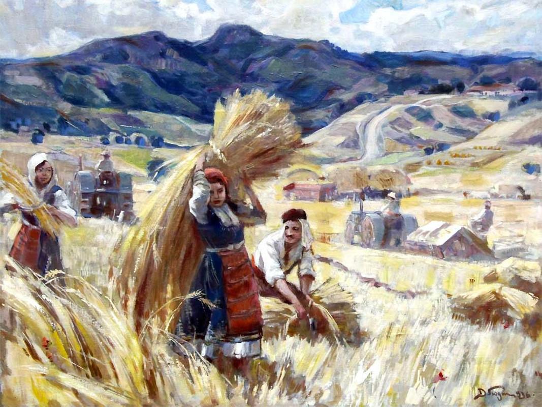 """""""Korrje"""" – 1945, piktor Dimitër Gjuxhenov"""