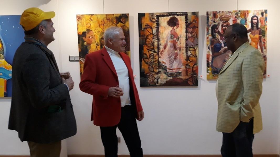 Людмил Киров с почетния консул на Етиопия в България Сейфе Бекеле Арегай  Снимка: Славена Илиева