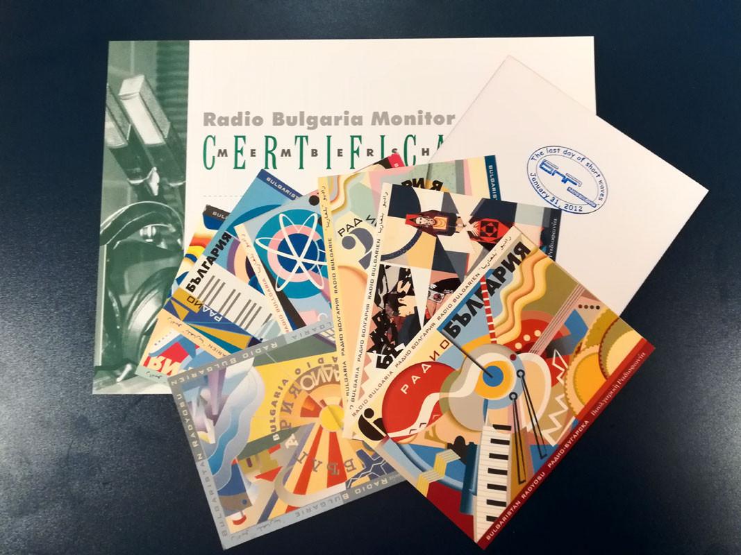 Që nga viti 1992 deri më 31 janar 2012, Radio Bullgaria u dërgon QSL-kartolina radio amatorëve nga e gjithë bota, të cilët kanë dëgjuar emisionet në valë të shkurtra në 11 gjuhë.