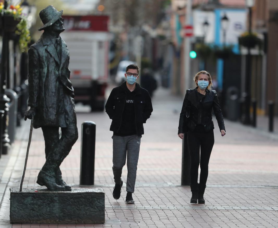 Паметник на Джеймс Джойс в Дъблин  Снимка: Ройтерс