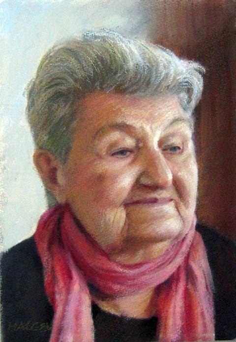 Художникът Филип Малеев нарисува портрет на Величка Каменова