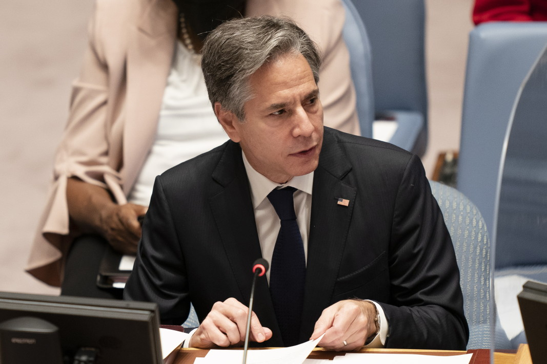 Американският държавен секретар Антъни Блинкън говори в Съвета за сигурност на ООН, 23 септември 2021 г. Снимка: ЕПА/БГНЕС