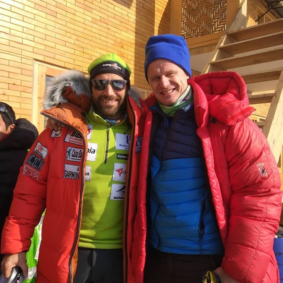 Испанецът Алекс Чикон и руснакът Артем Браун - организатор на експедицията до К2 (Русия, Казахстан, Киргизстан)