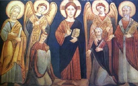 Fresque du IXe siècle en la basilique Saint Clément à Rome