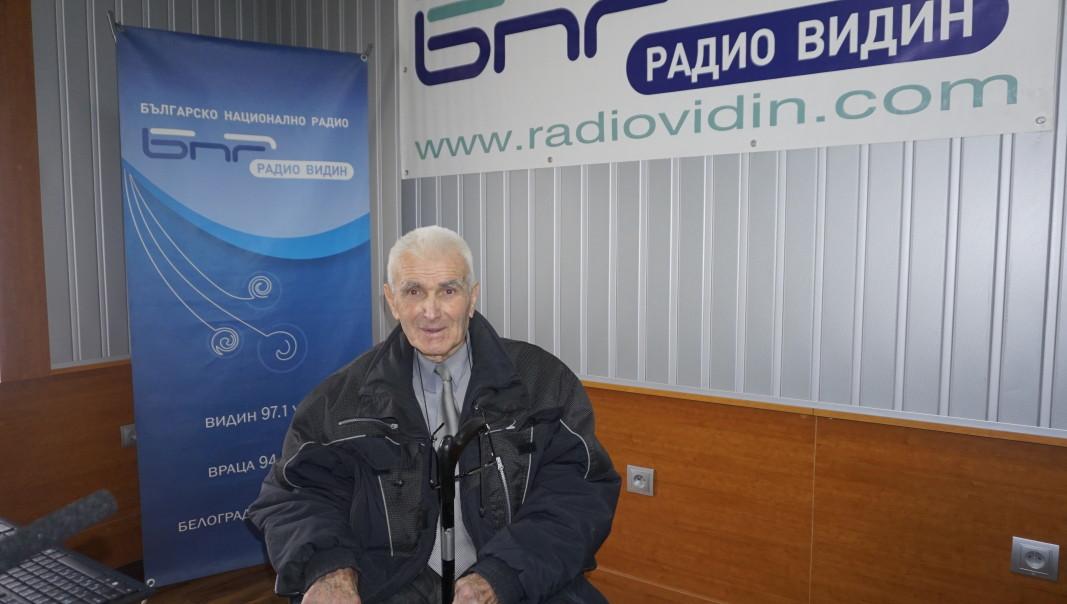Стоян Георгиев, най-възрастният жител на Костичовци. Снимка: Радио Видин