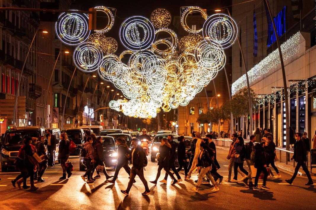Коледните светлини в Барселона - 26 ноември 2020 г.