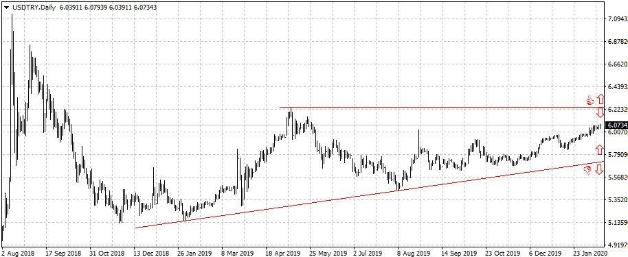 Графика долар / турска лира