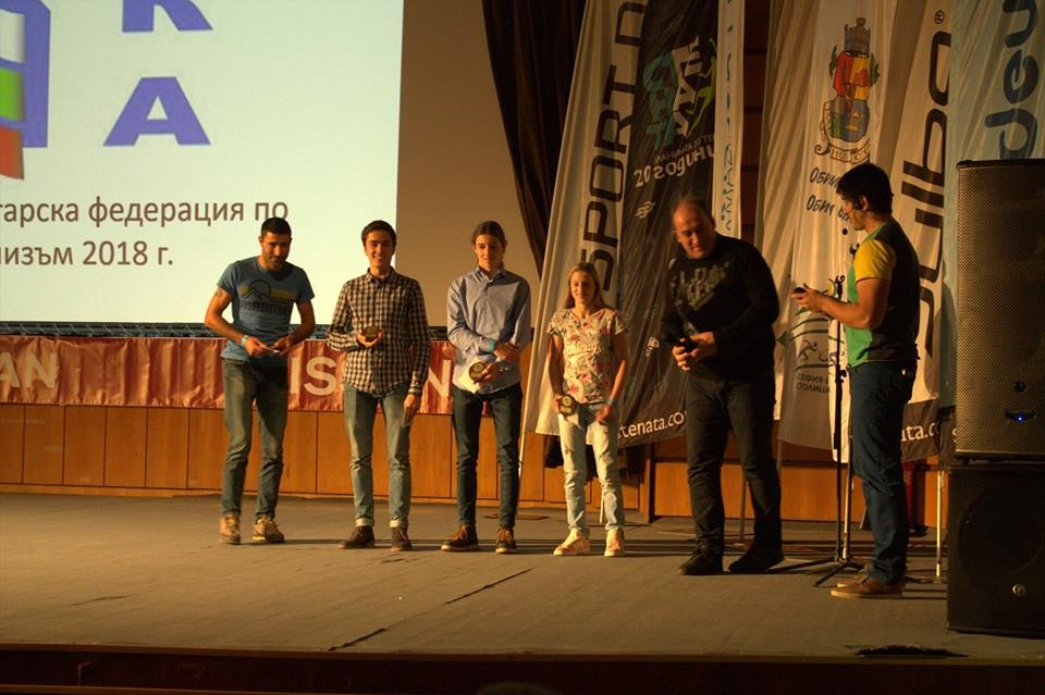 От ляво надясно: Дамян Чолпанов, Петър Иванов, Петър Атанасов, Алекс Тоткова, Петко Тотев