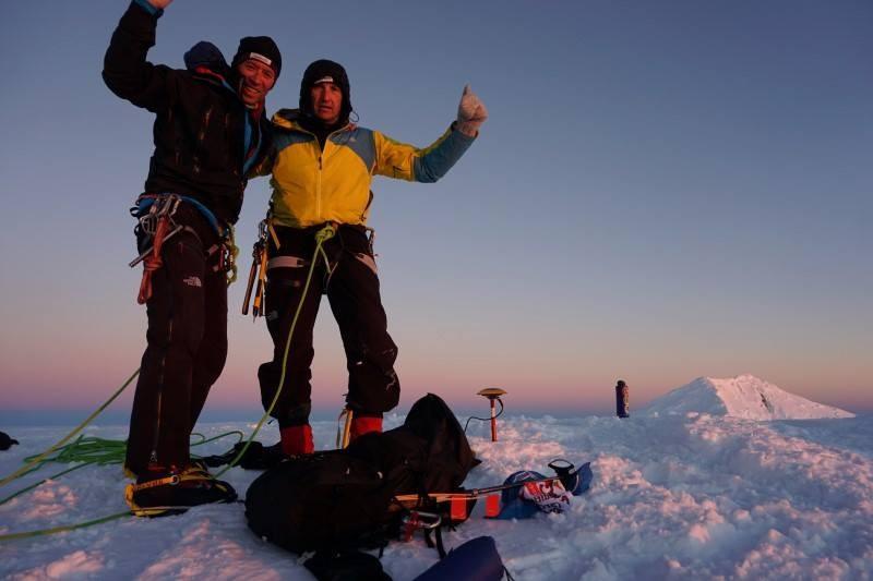 С Дойчин Боянов на връх Лясковец, Антарктида