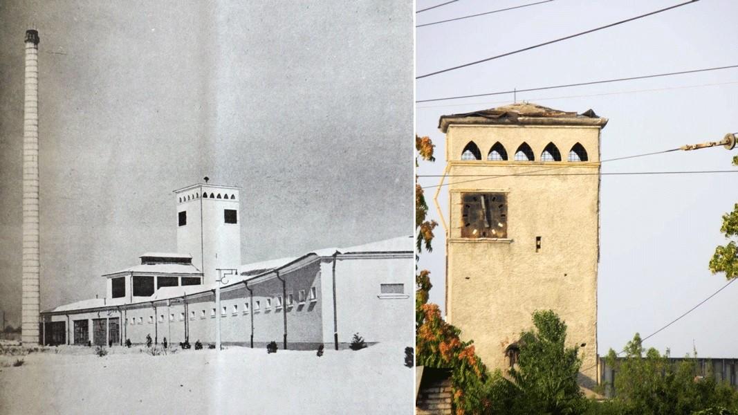 Matadero de Sofía, antes y ahora. Fotos: @BGarch203040