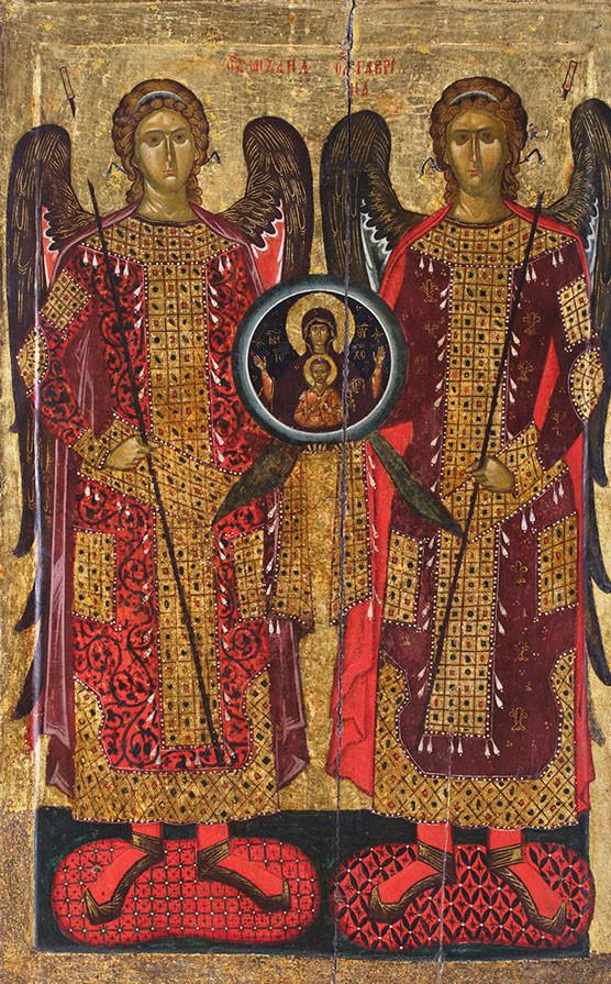 Congregación de los Arcángeles, siglo XIV, Monasterio de Báchkovo (fragmento)
