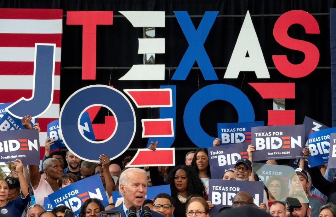 Джо Байдън на митинг в Тексас