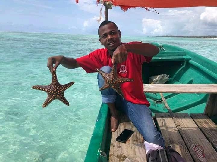 Морските звезди са лесен улов. Снимка Искра и Феня Декало