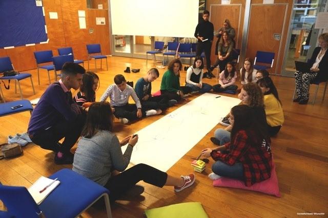 Детский совет Eurochild во время работы