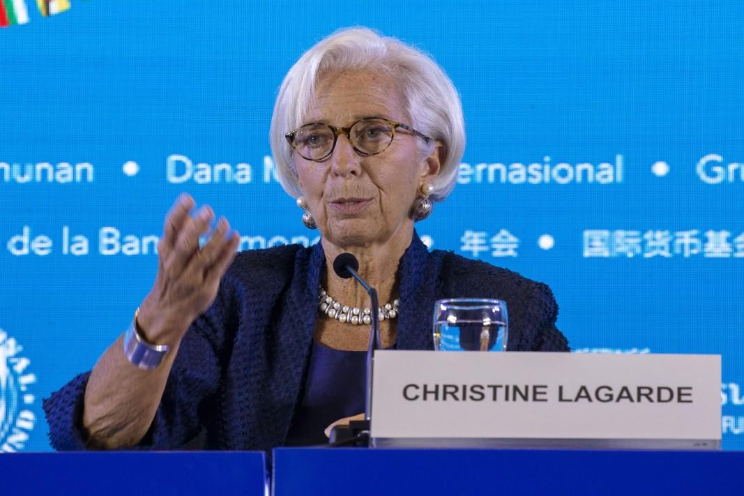 Управляващият директор на Международния валутен фонд Кристин Лагард предупреди в