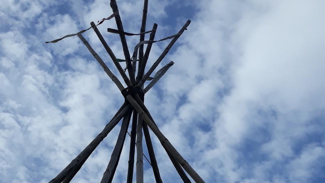 Структура, която се подготвя за Темаскала            Снимка: Славена Илиева