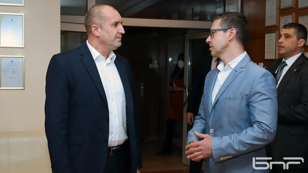 Румен Радев  и Андон Балтаков