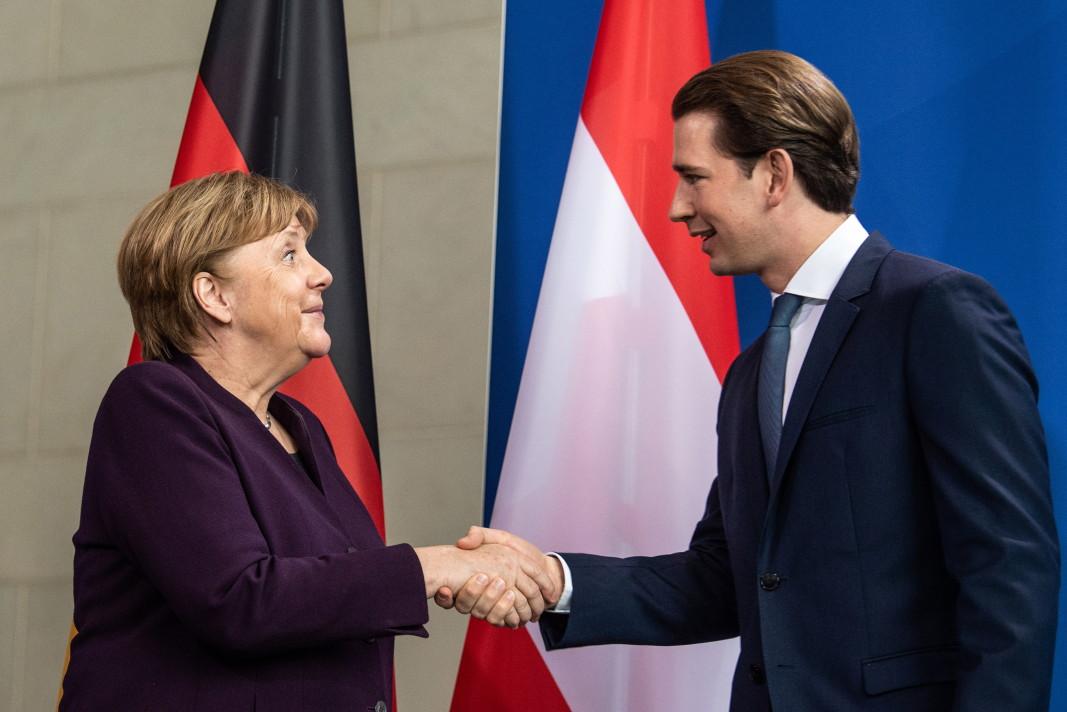 Ангела Меркел и Себастиан Курц