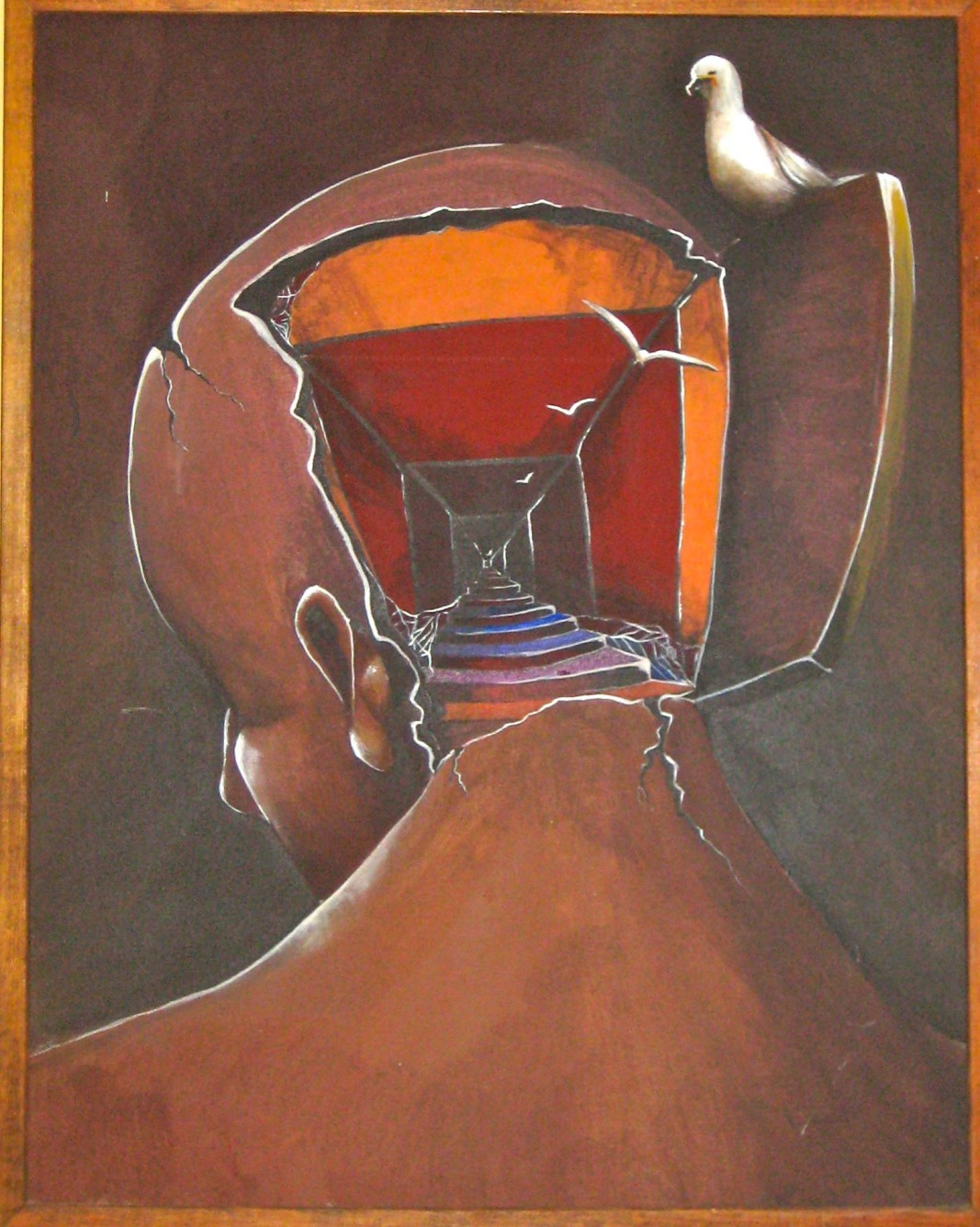 """BIRDBRAIN"", автор: L. Greselin   Снимка: Museum Of Bad Art, MOBA"