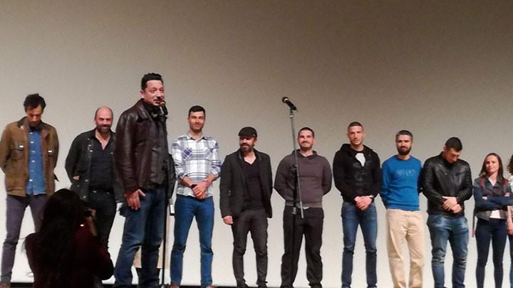 Част от българите, участвали във филма за Кристо - на сцената в НДК след прожекцията