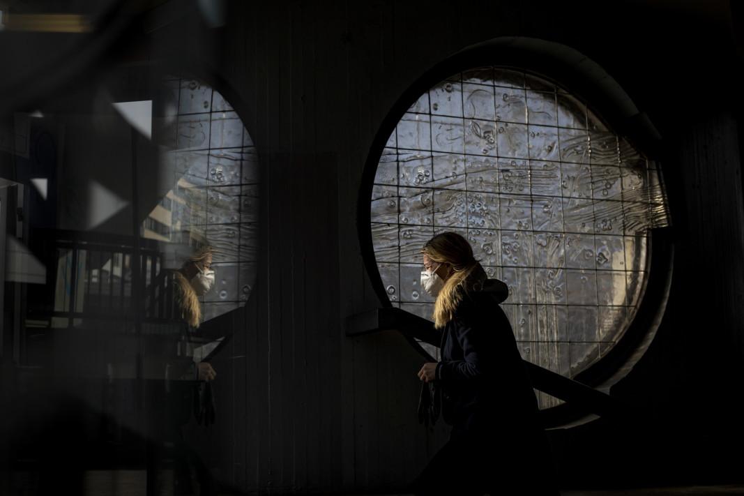 В метрото в Прага - февруари 2021 г.