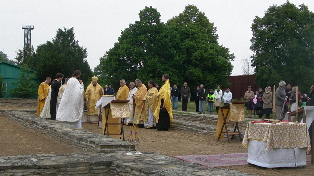 The Mass on May 24 on the site of the Big Basilica, near the supposed tomb of Archbishop Methodius