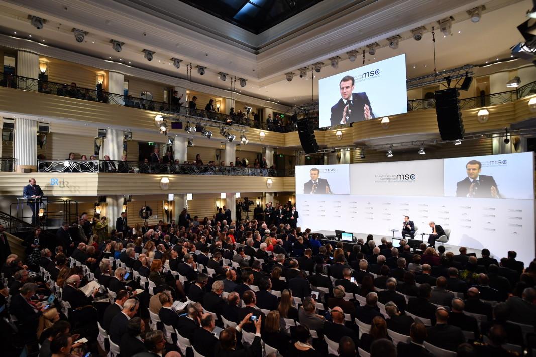 Френският президент Макрон на Мюнхенската конференция