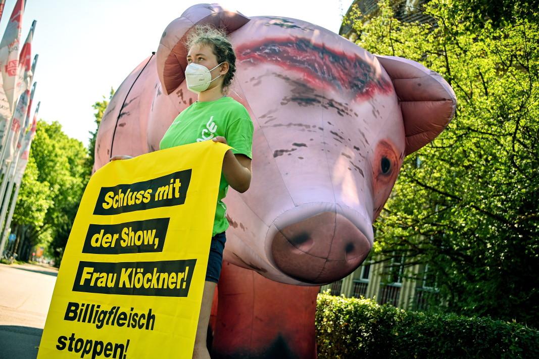 Протест в Дюселдорф с искане да се сложи край на производството на евтино месо.