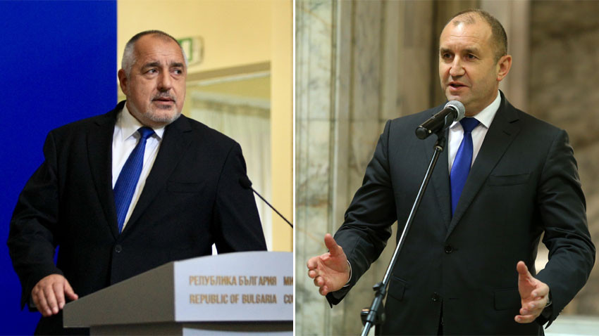 Premier Borissov and President Radev – two diametrically opposite looks at political events of out-gone year.   Photo: BGNES